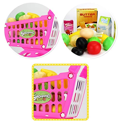 Amazon.com: Nessere Kid Educational Toy Fruit Vegetable Supermarket Shopping Cart Mini Trolley Pretend Shopping Cart Toy Shopping Carts: Toys & Games