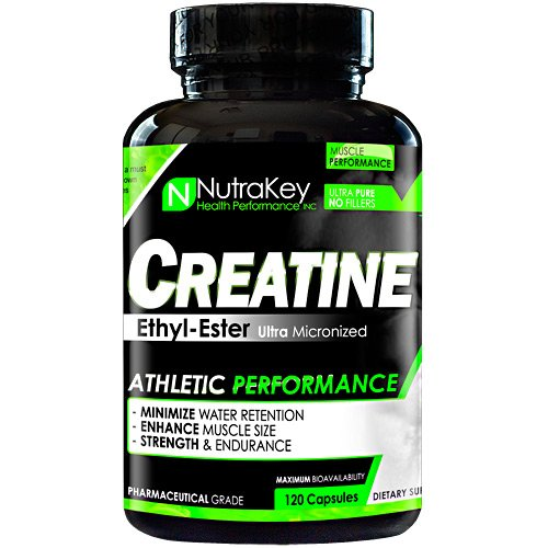 NutraKey Creatine Ethyl Ester Capsules, 120 Count