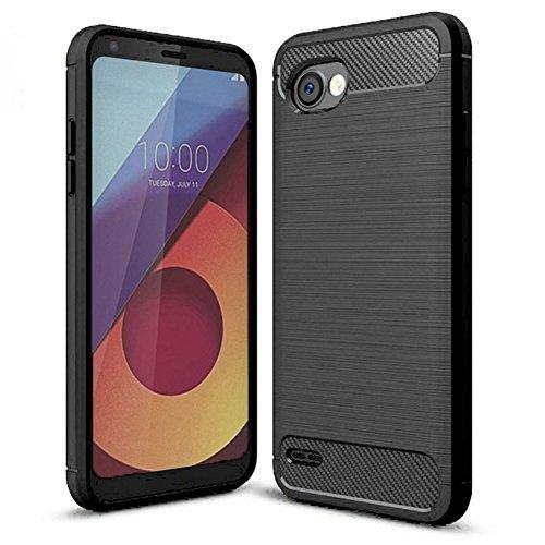 LG Q6 Case, LG G6 Mini Case, LG Q6 Plus Case - Suensan TPU Shock Absorption Technology Raised Bezels Protective Case Cover for LG LG Q6 (TPU Black)]()
