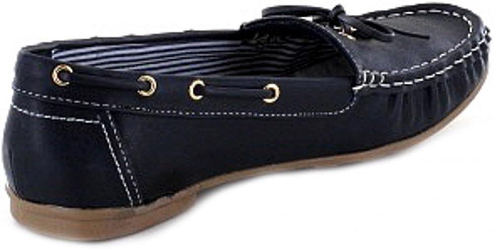 Jane Klain Schuhe Damen Mokassins 242-537 mit Schleife in 3 Farben