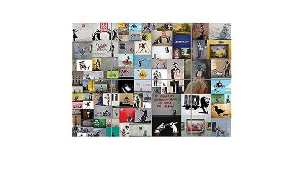 BANKSY COLLAGE GIANT PICTURE ART PRINT AFICHE CARTEL IMPRIMIR CARTELLO POSTER MR377: Amazon.es: Hogar