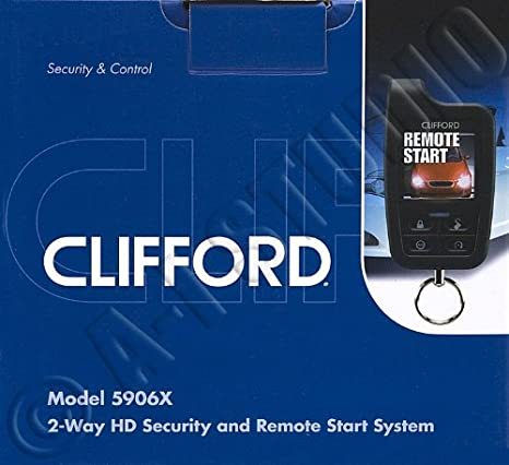 Amazon.com: Clifford 5906X 2-Way Security System with Remote ...