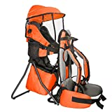 Clevr Cross Country Baby Backpack Carrier with Stand and Sun Visor Shade Child