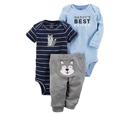 Carters Super Comfy 3 Piece (Carter's Baby Boys' 3 Piece Daddy Best Friend Little Character Set Newborn)