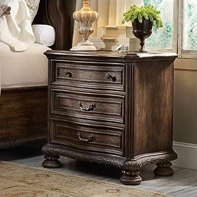 Hooker Furniture Rhapsody 3-Drawer Nightstand in Rustic Walnut