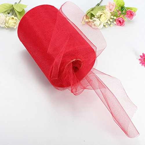 (Professional For Wedding Tulle Roll, Soft 6 X100yd Tulle Roll Spool Wedding Craft Bridal Party Decor X300 39 Red - Tulle Fabric Rolls, Tulle Roll, Wedding Tulle Fabric, Roll Tulle, Wide Tulle Roll)