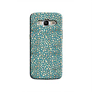 Cover It Up - Brown Blue Pebbles Mosaic Galaxy J2 2016 Hard Case