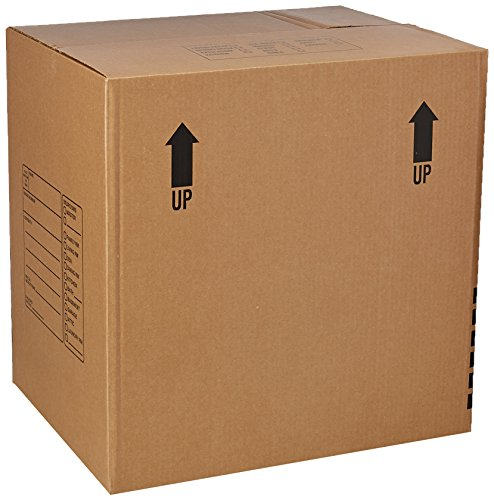EcoBox Extra Large Moving Box Genuine Size 24 x 18 x 24 Inches Pack of 5 (V-8504)
