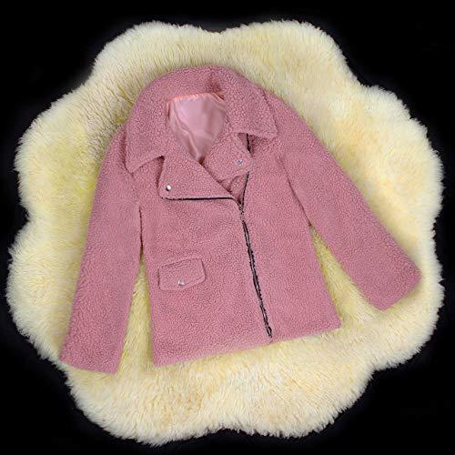 Sintética Elegantes Mujer Cálido Piel Grande Abrigos Invierno Rebajas Rosado De Talla Abrigo Abierto Punto Chaqueta Ansenesna 74fqTf