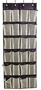 3. Misslo Over the Door Organizer 24 Large Mesh Storage Pockets