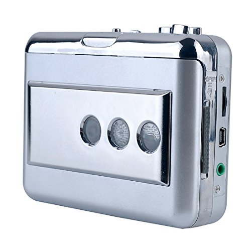 Y&H USB Cassette Player Walkman,Cassette Tape to MP3 Format Converter,Portable Digital Audio Music Player Recorder