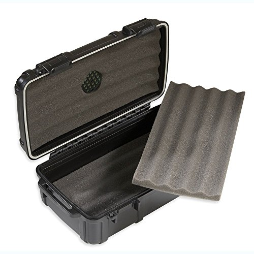 Herf-a-Dor Travel Humidor 10 Cigar Capacity - Durable, Airtight, Crushproof Travel - 10 Humidor Cigar Plastic Travel