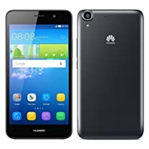 Huawei Y6 SLC-L04, Android 5.1, 5-inch LCD, 1.1GHz, 8GB, Unlocked, Smart Phone, Black, Bulk-Packed - Only English and French Languages