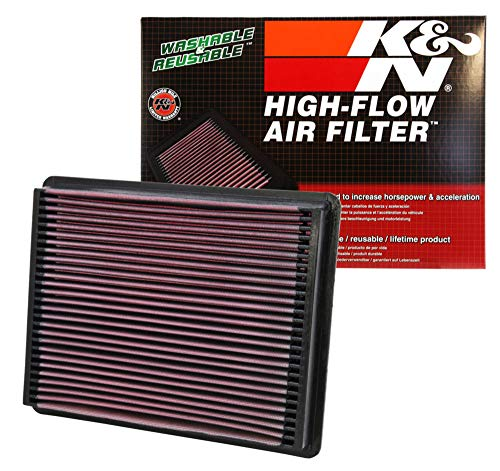 K&N engine air filter, washable and reusable:  2017-2019 Ford Truck Super Duty V8 (F250, F350, F450, F550) - F250 Truck Duty F350