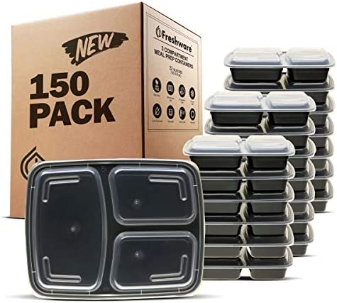 Freshware YH 3X150A meal containers 150 Pack
