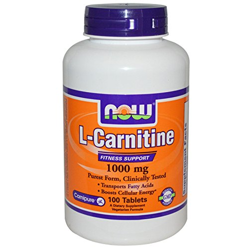 Now Foods L-Carnitine 1000 mg - 100 Tabs 12 Pack by NOW Foods