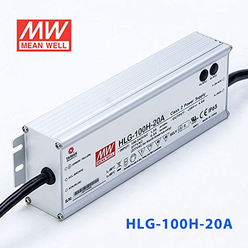 Meanwell HLG-100H-20A Power Supply - 100W 20V 4.8A - IP65 - Adjustable Output