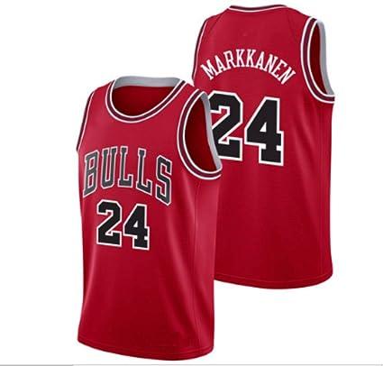 CRBsports Lauri Markkanen, Jersey De Baloncesto, Bulls, Edición De Visitante, Tela Bordada