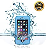 Armour Shell Waterproof Rugged Case with Charging Cable for iPhone 6 – Light Blue