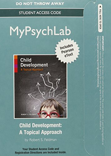 NEW MyLab Psychology  Pearson eText -- Standalone Access Card -- for Child Development: A Topical Approach