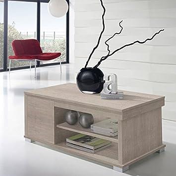 Tousmesmeubles Table Basse Chêne Clair Relevable Essa L 110 X L