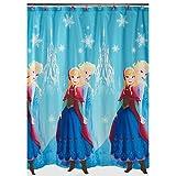 Disney Frozen Bathroom Bundle Shower Curtain & Hooks