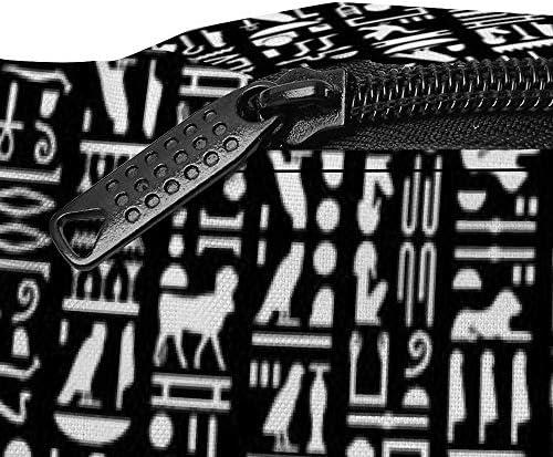 エジプトの象形文字黒小 ウエストバッグ ショルダーバッグチェストバッグ ヒップバッグ 多機能 防水 軽量 スポーツアウトドアクロスボディバッグユニセックスピクニック小旅行
