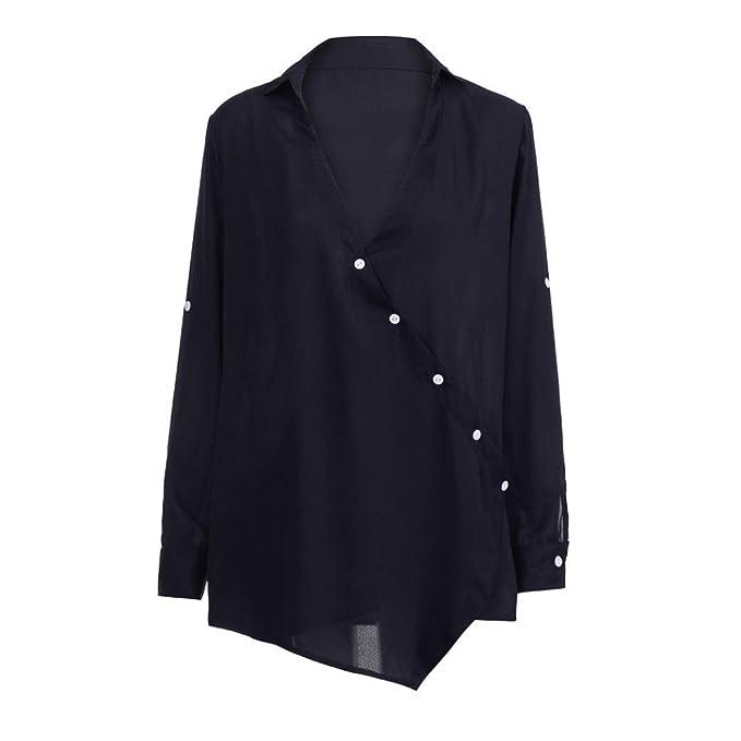 Suelto Blusa Verano, Covermason Blusa con Cuello en V de Manga Larga y Blusa Suelta de Verano para Mujer: Amazon.es: Ropa y accesorios