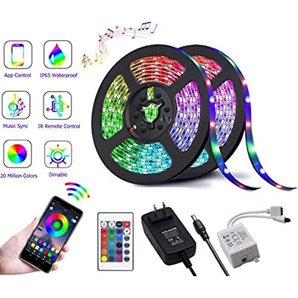 Amazon Com Led Strip Lights With Remote Control Color