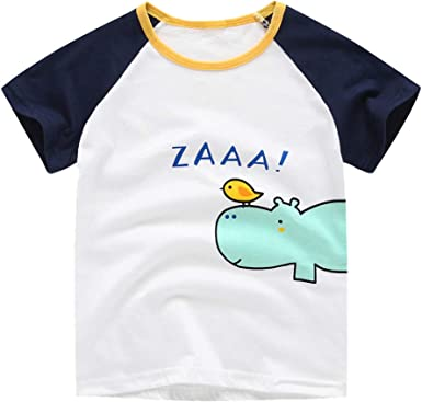 Toddler Infant Kids Baby Girls Boys Short Sleeve Tops T-shirt Blouse Tee Clothes