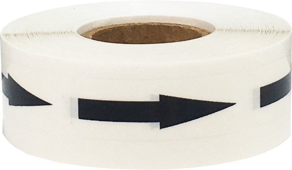 Removable Document Arrow Labels Black Transparent 1/2 x 1 1/2 Inch 500 Total Stickers by InStockLabels.com (Image #4)