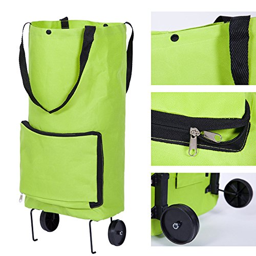 Price comparison product image Birdfly Coupled Wheel Portable Foldable Environmentally Friendly Folding Shopping Cart Home Trolley Bag Tug