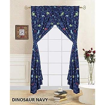 Amazon Com Dinosaur Window Curtains 2 Piece Panels Modern