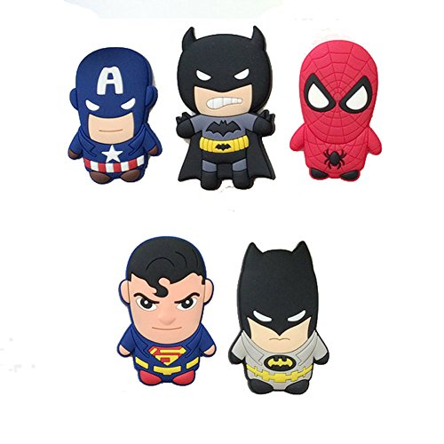 [5 Cute Car Novelty Super hero Fridge Magnet Sticker Cute Funny Refrigerator Toytoon Refrigerator] (Create Your Own Superhero Costume Online)