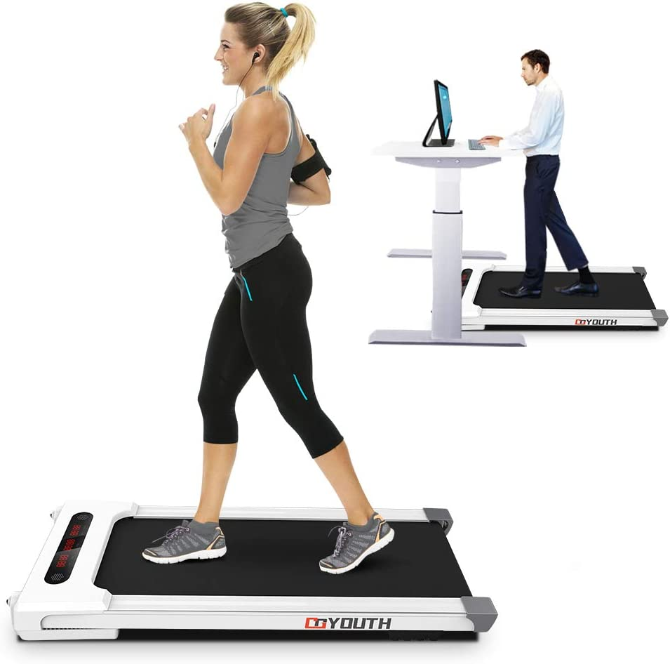 Goyouth 2 in 1 Under Desk Electric Treadmill