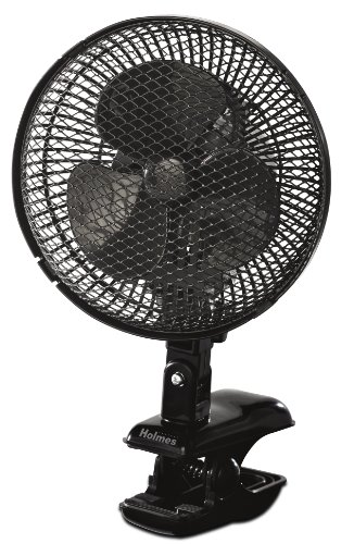 Holmes HACP10B-U Oscillating Clip Fan, Black