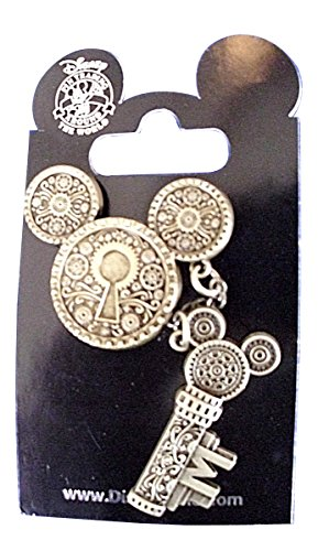 Disney Parks Steampunk Mickey Mouse Icon Bronze Lock & Key Pin (Steampunk Lock)