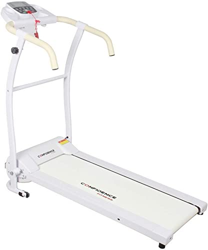 Confidence Fitness TP-1 Electric Treadmill Folding Motorised Running Machine White