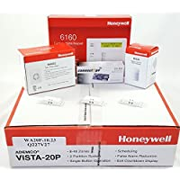 Honeywell Vista 20P Hardwired Self Monitoring Kit With a 6160 Keypad, One IS335 Motion Sensor, One EVL-4CG EnvisaLink, Three Mini 945T Contacts, and a Wave2 Siren