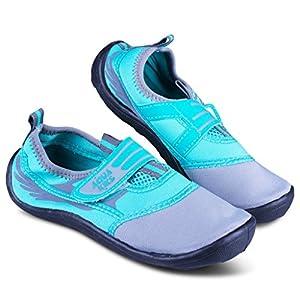 [A215-GRY/AQA-Y12] Aquakiks Boys Water Aqua Shoes, Kids & Toddlers Waterproof Sandals, Teal