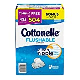 Cottoelle Flushable Cleansing Cloths, 8 Pound