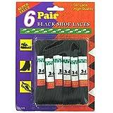 96 Packs of 6 Pair black shoe laces