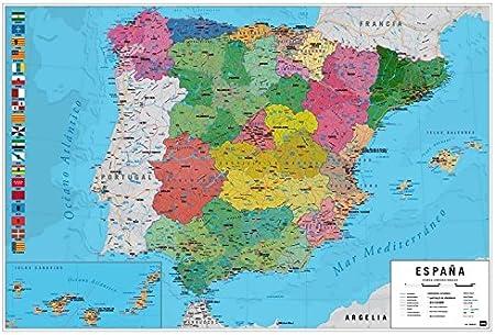 Póster mapa España - Grupo Erik Editores: Amazon.es: Oficina y papelería