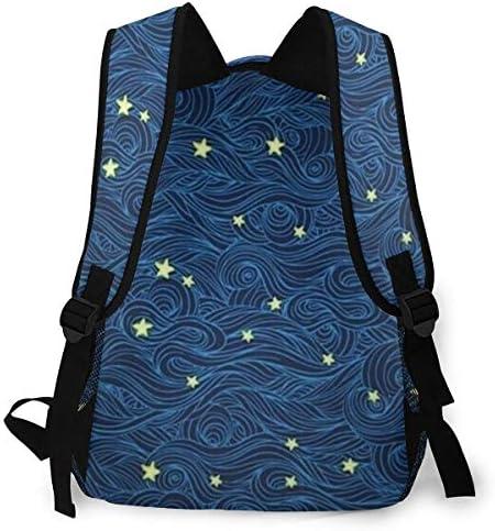 星が見ます バックパック リュック メンズ レディース 学生 男女兼用 防水 アウトドア カジュアル デイパック 多機能 収納 通勤 通学