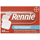 Rennie Peppermint 48 Tablets