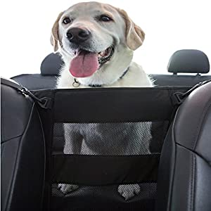 PET DEZINE Dog Car Safety Barrier – Front & Back Seat Barrier, Travel Safe Pet Car Net, Suitable for All Size Dogs, Easy… Click on image for further info.