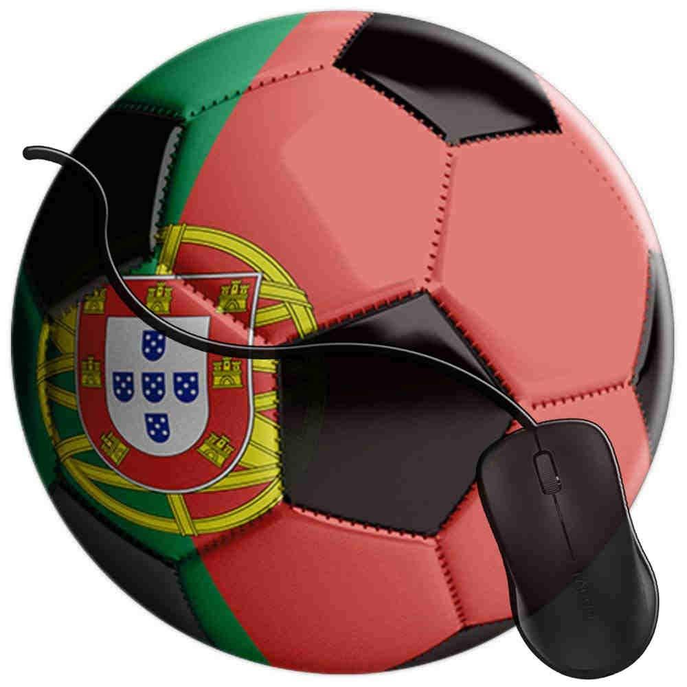 QCFW Alfombrilla de Ratón Balón de fútbol de Bandera de Portugal ...