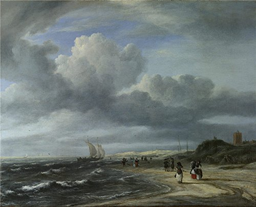 The Polyster Canvas Of Oil Painting 'Jacob Van Ruisdael The Shore At Egmond Aan Zee ' ,size: 12 X 15 Inch / 30 X 38 Cm ,this High Resolution Art Decorative Canvas Prints Is Fit For Living Room Decor And Home Decor And Gifts
