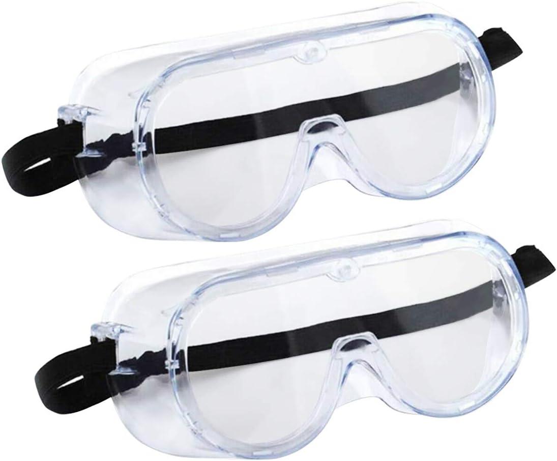 Transparent anti-bu/ée de la poussi/ère Googles r/églables l/ég/ères de laboratoire Lunettes de protection de lunettes Lunettes de s/écurit/é