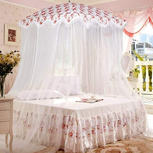 Jzmai Yizhi Children's Mosquito Net 1.35 1.5 1.8 Bed Girl Princess Single Single Hanging Dome Mosquito Princess Wind Mosquito Net (Color : 4, Size : 135m (4.5 ft) Bed) ()